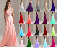 Wholesale Yellow Chiffon Cocktail Dresses - evening gowns Formal Long Evening Gown Party Prom Bridesmaid Dress Size 6 8 10 12 14 16 18 evening gown prom dresses cocktail dress