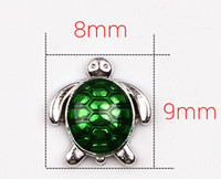 Wholesale Sea Turtle Charms Wholesale - 20PCS lot Sea Turtle Alloy Floating Charms, DIY Jewelry Findings Fit For Magnetic Glass Locket