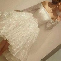 Wholesale Cheap Modest Bling Prom Dresses - 2017 New Bling Bling High Low Prom Dresses Off Shoulder Beaded A Line Hi-Lo Modest Party Cocktail Prom Gowns Cheap Custom Made