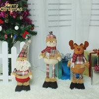 Hot Sale Lovely Papai Noel Snow Man Elk Doll Christmas Gift ajustável Cheap Xmas Ornaments Children Favorite Doll Christmas Decorações