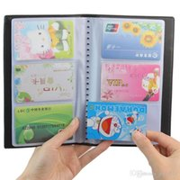 Wholesale Name Id Card - 1 Pc Portable 60 Cards Leather Business Name ID Credit Card Holder Keeper Organizer Book#ZH275