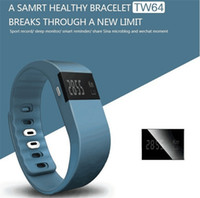 Wholesale Sports Outdoors Wholesale - New Fashionable TW64 FITBIT wristband Smart Band Fitness Activity Tracker Bluetooth 4.0 Smartband Sport Bracelet 5 colors for android ios