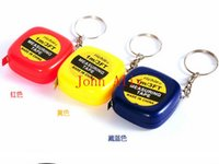 Wholesale Gifts Tape - Portable tape measure keychain key chain novelity gift Measuring tape keychain measurement tool easy to take
