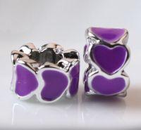 commande de bijoux achat en gros de-60 PCs Ordre Mixte Haute Qualité Diy Bijoux Perles Charmes En Acier Inoxydable Perles Fit Charme Européen Bracelets Pour Pandora Style Bijoux