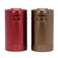 Nova chegada 2 cores Round Tea Box Candy Storage Case Metal Coffee Tea Candy Box Cylinder Container