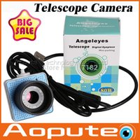 Wholesale Telescope Computer Camera - Wholesale-2015 Hot 0.8 MP digital lens electronic eyepiece Astronomical telescope camera USB Interface Connecting a computer display