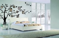 großes wohnzimmer wandkunst großhandel-Extra groß! 250 * 180 cm Fotorahmen baum Familie Bild DIY Abnehmbare Art Vinyl Wandaufkleber Dekor Wandbild Aufkleber Wohnzimmer