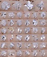 porzellan 925 silber preis ring großhandel-Fabrik-Preis-hochwertige Art- und Weisefrauen-Schmucksachen 925 silberne Hochzeits-Ringe für Frauen-unregelmäßige Formen mischen Arten 40pcs / lot