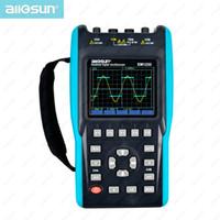 Wholesale Dual Channel Handheld Oscilloscope - Handheld Oscilloscope With Color Screen Scope Digital Multimeter DMM Meter Dual Channel 25MHz All Sun EM1230