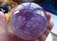Wholesale Stone Sphere Stands - 100% Natural Amethyst Quartz Crystal Sphere Ball Healing Stone 26--30mm + Stand