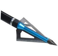Wholesale Blue Compound - 24pcs 3Blade Hunting Broadheads, Blue Fixed Arrowheads 100Gr Broadhead Archery Arrow head