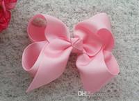 Wholesale Cheap Wholesale Boutique Hair Bows - 240pcs lot 3.3'' Baby Ribbon Bows With Alligator Clip,Korean HairBows Boutique Hair Bows For Girls Hair Accessories CHEAP WHOLESALE