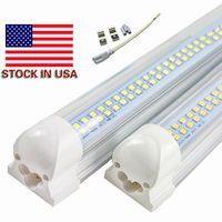 Wholesale Fluorescent Work Lamps - LED Light Bulbs 72W Cool White V Shaped Integrated 8ft LED Fluorescent Light 8 feet Double Row Work Light Tube Lamp AC85-265V