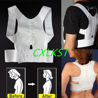 Wholesale Shoulder Back Brace Posture - Magnetic Posture Support Back Shoulder Brace Corrector S M L XL XXL White