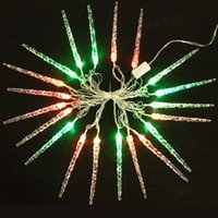 Wholesale xmas icicles lights - 4m LED Icicle Lights 2w Street Light Decoration Party Modeling String Lighting RGB 220V 4 Meter 20leds Licht Christmas Gift Xmas