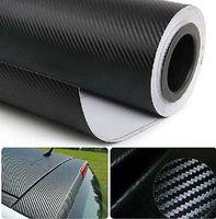 Wholesale Gloss Carbon Fiber - 3M Car Sticker Gloss Carbon Fiber Vinyl Vehicle Wrap Film Sheet 32''x24''
