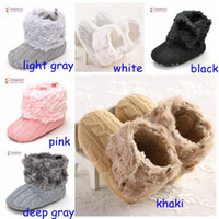 Wholesale Infant Girls Snow Boots - New Arrival Chrsitams Baby Boots 18 pairs lot Children shoes Boots Pink  white baby infant baby girls boots Australian shoes boots 0-2years
