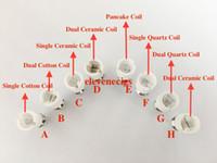 ingrosso atomizzatori a bulbo a erbe secche-Doppia bobina del quarzo della doppia bobina della cera dell'atomizzatore della cera per la lampadina di vetro del globo Vape Pen Wax Dry Vaporizzatore dell'erba