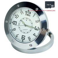 Wholesale alarm clock hidden camera dvr - 32GB memory built-in Table Hidden Digital Clock Camera Recorder Alarm Clock Camera with DVR CLOCK VIDEO RECORDING CAMERA PQ102