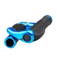 Wholesale Aluminum Handle Grips - 1 Pair Cycling Mountain MTB Bike Lock-on Handlebar Cover Bicycle Handle Grip with Bar Ends