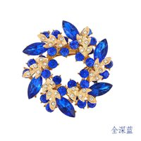 Wholesale Diamond Crystal Brooch - Fashion Jewelry Wholesale Korean high-grade diamond brooch crystal brooch scarf buckle dual Redbud Limited promotional free shipping