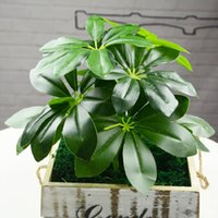 Wholesale Fake Flowers Arrangements - Artificial Plant Decoration For Office And Home 32 Cm Wall Landscaping Accessories Diy Flower Arrangement Fake Leaves