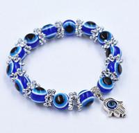 Wholesale Turkish Beads Wholesale - Fashion Evil Eye Lampwork Resin Bead Turkish Nazar Greek Beaded Stretch Braclet