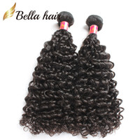 Wholesale Malaysian Curly Extensions - Unprocessed Kinky Curly Hair Malaysian Human Hair Extensions Double Weft Natural Color Curly Weaves Grade 7A 3pcs