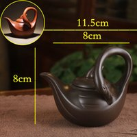 Wholesale Yixing Purple Sand Teapot - Yixing teapot quirky styling goose pot 160cc purple clay teapot chinese puer oolong tea pot purple sand teaset onsale~