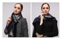 Wholesale soft scarves for sale resale online - Hot Sale Winter Soft Wool Scarf Neck Wrap Large Shawl colors Matching Long Scarve Stripes Pashmina for Thanksgiving Day Christmas