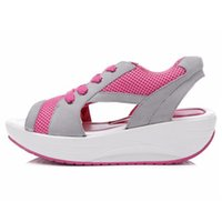 Wholesale Thick Sandals Wholesale - Wholesale- New 2016 Fashion Womens Sandals Height Increasing Women Summer Shoes Cute Casual Shoes Platform Swing Thick Sole Brand A056