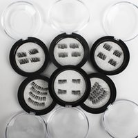 Wholesale Eye Lashes Set - 4pcs  set Magnetic Eye Lashes 3D Mink Reusable False Magnet Eyelashes Extension 3d eyelash extensions magnetic eyelashes eye make up