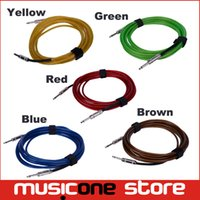 Wholesale guitar cords - 3M FD High Anti-Interference Performance Instrument Guitar Bass 6.5mm Male to Male Audio Connection PVC Cable Cord MU0576