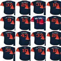 Wholesale Mr Red - 2017-Little League Cleveland Scrubs Cody Allen Pollo Corey Kluber Klubes Danny Salazar Francisco Lindor Mr. Smile Baseball Jerseys
