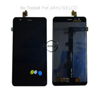 Wholesale Lcd Display For S3 - Wholesale-100% warranty 5.5 Inch For JIAYU S3 LCD Screen Display with Touch Screen Digitizer Assembly by free shipping Black color!!