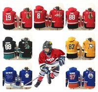 Wholesale Hot Boys Hoodie - HOT YOUTH HOODIE Stitched Stitched KID Sidney Crosby Auston Matthews Connor McDavid Patrick Kane Brent Burns Jonathan Toews OVECHKIN