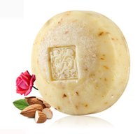 Wholesale Almond Sweets - Sweet almond, rose essence, natural moisturizing skin, European imported Handmade Soap for body for face for hair