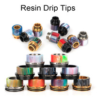 Wholesale Rda Drip Tips - Resin Drip Tips and Stainless Steel Drip Tip For Kennedy 24 RDA Goon 528 RDA Battle Cap 510 810 1100 Vape Mouthpiece