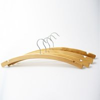 Wholesale Styles Wooden Clothing - Natural Moon Style Arched Wooden Hanger for Shirts, dress and Clothes