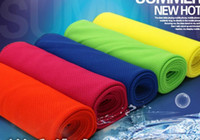 Wholesale Cooling Performance Towels sports outdoor ice cold scarf scarves Pad neck tie wristband headband summer beach necessity supplies Towel gift
