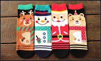 Wholesale Novelty Reindeer - 2015 santa claus women men creative novelty tube socks cartoon santa reindeer snowman bear christmas socks J082803#