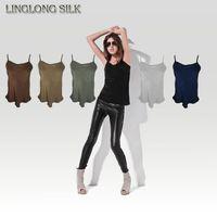 Wholesale Direct Underwear Women - Wholesale-Silk Camisole Size 100% Natural Silk Fabric Silk Underwear Womens Tops Camisole Casual T-shirt Factory Direct Wholesale