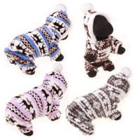 roupa de natal pequeno cão venda por atacado-Cão de estimação Roupas de Natal Inverno Roupas Para Cachorro Do Cão de Rena Do Floco De Neve Quente Coral Casaco de Lã Para Pequenos Cães Casaco Hoodies Para Chihuahua