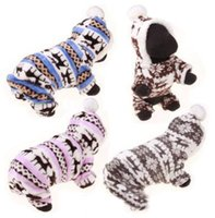 Wholesale christmas clothing for female dog for sale - Group buy Pet Dog Christmas Clothes Winter Pet Dog Clothes Reindeer Snowflake Warm Coral Fleece Jacket For Small Dogs Coat Hoodies For Chihuahua