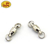 Explosion Hooks split ball bearing - Goture High Quality Ball Bearing Swivel with Split Ring Size Fishing Connector Hooks Fishing Termina