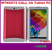 Wholesale Dual Sim Tablet Gsm - 7 Inch 3G Phablet HD 1024x600 GSM WCDMA MTK6572 Dual Core Dual SIM Dual Cameras GPS Android 4.4 Phone Calling Tablet DHL FREE SHIPPING