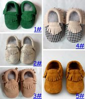 Wholesale Pink Bebe - Retail 2016 New Baby Kids Suede Leather Baby Moccasins Soft Moccs Baby Shoes Chaussure Bebe Infant Firstwalkers Anti-Slip Baby Footwear