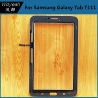 Wholesale T111 Touch Panel - Samsung Galaxy Tab 3 Lite 7.0 T111 Tablet Touch Screen Digitizer Panel White And Black Front Glass Lens Repair Parts