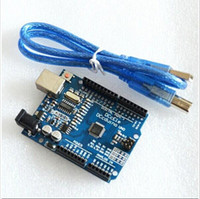 Wholesale Arduino One - UNO R3 Electronic Components UNO board with usb cable for Arduino(Compatible) DCCduino 2014 new one