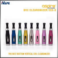 zerstäuber bvc großhandel-Aspire CE5-S BVC Clearomizer 100% authentisch Aspire CE5S BVC BDC E elektronische Zigarette eGo Zerstäuber 1,8 ml CE5S Vaporizer mit BVC BDC Spulen